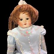 "Antique 17"" Antique German Bisque Heubach Koppelsdorf 275 Doll on Original Body, Perfect"