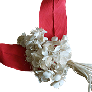 A charming small artificial flowers bouquet.France circa 1940.