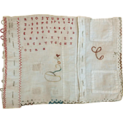 Early 20th century:a touching French schoolgirl needlework.