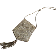 Charming vintage French compact purse or evening bag circa 1940-1950.