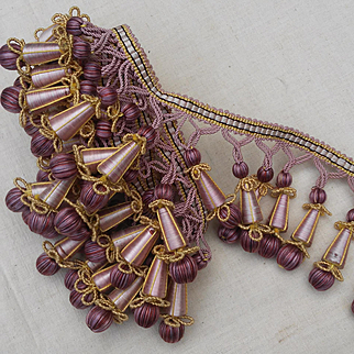 French ''Houlès'' manufacture:a braid trimmings with tassels garnish.