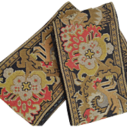 France late 19th century:two « Petits points » Napoleon III tapestry  borders.