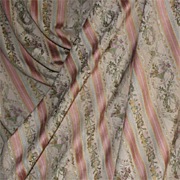 Beautiful and large silky piece of old French fabric,Louis XVI style,with flowers baskets pattern.