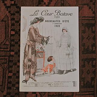 Catalog «La Cour Batave Nouveautés d 'été ,1re communion. » PARIS 1922.