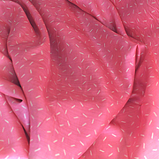 France 1930 : 2 pretty pieces of bright pink silk with a white pattern ,2,84 yards long for one and 2,73 yards for the second by 21,5 inches wide. - Red Tag Sale Item
