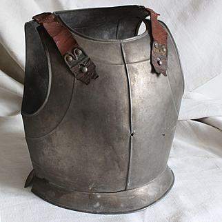 France late 19th century:a small astonishing and rare iron cuirass for child.