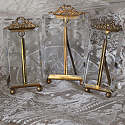 Collection of three charming French photo frames ,Louis XVI style , circa 1880.