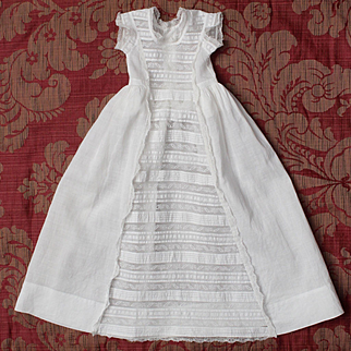 Exquisite antique French Christening gown for doll.