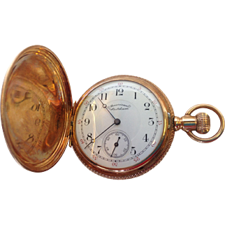 Antique 14k American Waltham  Watch Company Pocket Watch Great Condition Running