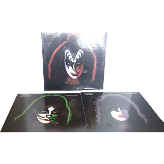 3 Kiss Personal Albums, Paul Stanley, Peter Criss, Gene Simmons
