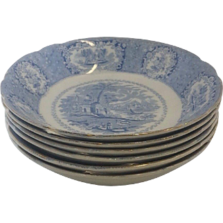 Set of 6 Ridgeways Soup Bowls, made in England