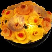 Floral Lamp Glass Lights up!!