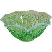 Green Opalescent Bowl