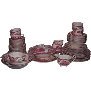 Reduced:  Service for 8 Johnson Brothers Old Britain Castles with 4 Serving Pieces