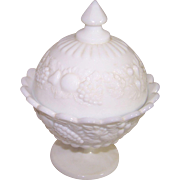Westmoreland Milk Glass Compote
