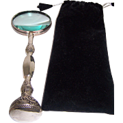 Silver Plated Magnifying Glass