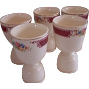 Homer Laughlin 5 Eggcups - Brittany or Majestic Pattern