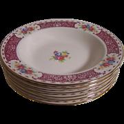 6 Homer Laughlin Picadilly Pattern Soup Bowls