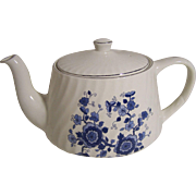 Enoch Wedgwood (Tunstall Ltd) Teapot - Royal Blue Ironstone