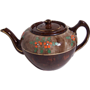 Brown with Flowers Sadler Teapot
