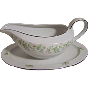 Johann Haviland Forever Spring Gravy Boat with Attched tray