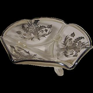 Silver Overlay Bonbon Dish