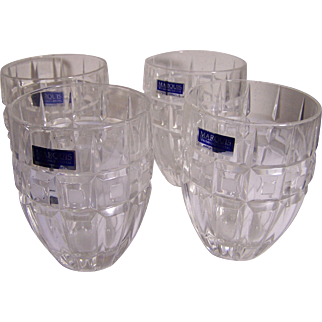 4 Waterford Marquis On The Rocks Tumblers