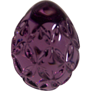 Purple Waterford Egg Paperweight
