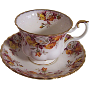 Royal Albert Cup and Saucer - Lenora Pattern