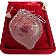 1983 Waterford Christmas Ornament