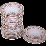 Set of 6 Z S & C Porcelain Finger Bowls with Matching Under Plates