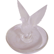 Lalique Ring Dish with Game Bird in Flight
