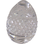 Crystal Egg Paperweight-Made in France
