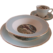 30 pc. Service for 6 Homer Laughlin Dinnerware Blue Heaven Pattern