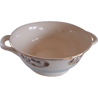 Homer Laughlin Blue Heaven Serving Bowl with Handles