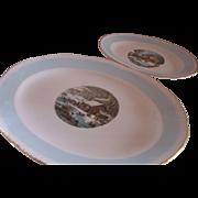 Pair of Homer Laughlin Blue Heaven Platters