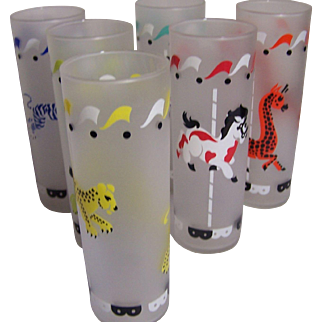 Set of 6 Carousel Tumblers