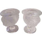 Pair of Lalique Tete de Lion Cigarette Holders