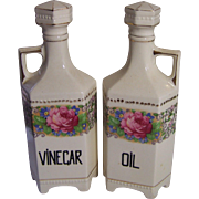 Vinegar and Oil Cruets Made in Czechoslovakia