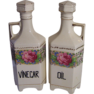Vinegar and Oil Cruets Made in Czechoslovakia