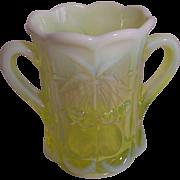 Moser Vaseline Glass Spooner (Opalescent)