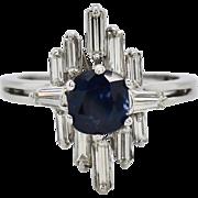 18k Gold 2.22ctw GIA Burma No Heat Sapphire & F-VVS Diamond Ring 5.3g Sz6.25