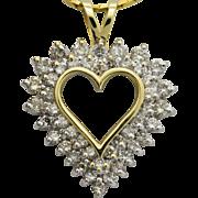 Diamond Heart Pendant in 14Kt Yellow Gold