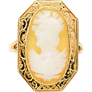 Cameo 14 Karat Yellow Gold Ring