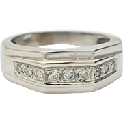 Gents Diamond 10KT White Gold Ring
