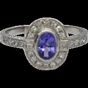 Tanzanite Diamond 14 Karat White Gold Ring