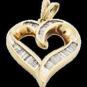 Diamond Heart 10 Karat Yellow Gold Pendant