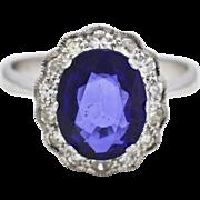 Platinum, Sapphire, & Diamond Engagement Ring