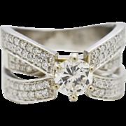 Diamonds Bridal Ring Set 14K White Gold