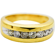 Gents Diamond 14KT Yellow Gold Ring